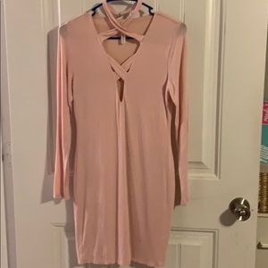 Light pink mini dress